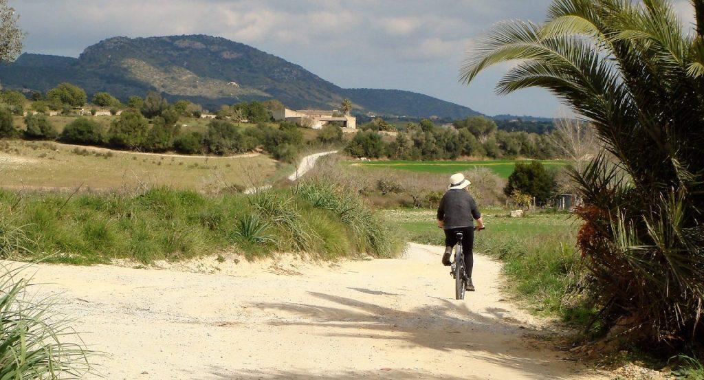 cycling in beautiful countryside
