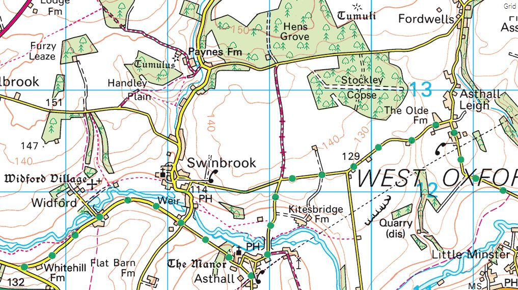example of an Ordnance Survey map