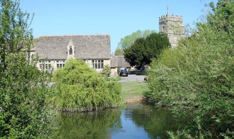 Ducklington village pond